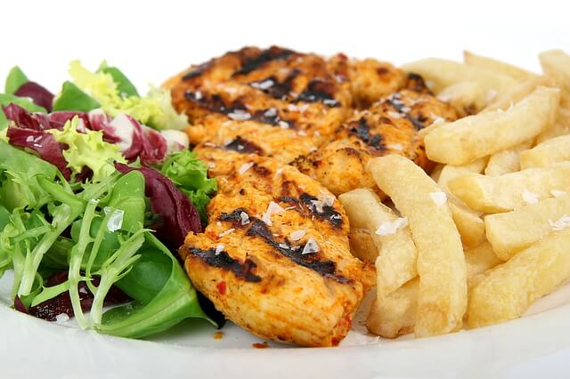 Grilled Chicken with Salad & Fries